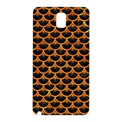 Scales3 Black Marble & Orange Marble Samsung Galaxy Note 3 N9005 Hardshell Back Case by trendistuff