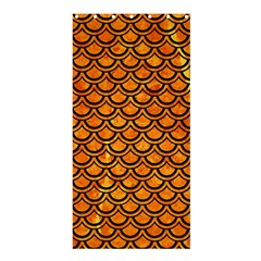 Scales2 Black Marble & Orange Marble (r) Shower Curtain 36  X 72  (stall)