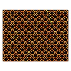 Scales2 Black Marble & Orange Marble Jigsaw Puzzle (rectangular) by trendistuff