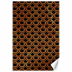 Scales2 Black Marble & Orange Marble Canvas 24  X 36  by trendistuff