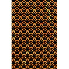 Scales2 Black Marble & Orange Marble 5 5  X 8 5  Notebook by trendistuff