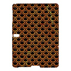 Scales2 Black Marble & Orange Marble Samsung Galaxy Tab S (10 5 ) Hardshell Case
