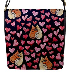 Crazy Cat Love Flap Messenger Bag (s) by BubbSnugg