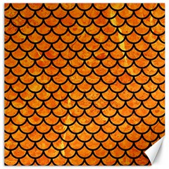 Scales1 Black Marble & Orange Marble (r) Canvas 12  X 12  by trendistuff