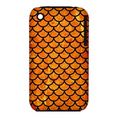 Scales1 Black Marble & Orange Marble (r) Apple Iphone 3g/3gs Hardshell Case (pc+silicone) by trendistuff