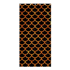 Scales1 Black Marble & Orange Marble Shower Curtain 36  X 72  (stall)