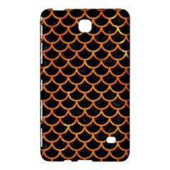 Scales1 Black Marble & Orange Marble Samsung Galaxy Tab 4 (7 ) Hardshell Case  by trendistuff