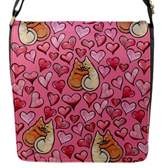 Cat Love Valentine Flap Messenger Bag (s) by BubbSnugg