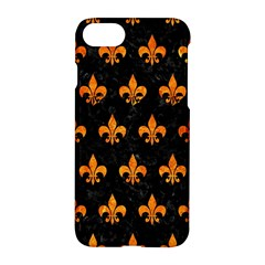 Royal1 Black Marble & Orange Marble (r) Apple Iphone 7 Hardshell Case by trendistuff