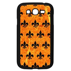 Royal1 Black Marble & Orange Marble Samsung Galaxy Grand Duos I9082 Case (black) by trendistuff