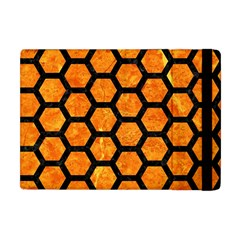 Hexagon2 Black Marble & Orange Marble (r) Apple Ipad Mini Flip Case by trendistuff