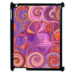 Candy Abstract Pink, Purple, Orange Apple Ipad 2 Case (black) by digitaldivadesigns