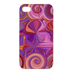 Candy Abstract Pink, Purple, Orange Apple Iphone 4/4s Premium Hardshell Case by digitaldivadesigns