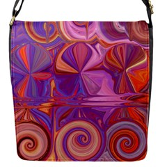 Candy Abstract Pink, Purple, Orange Flap Messenger Bag (s) by digitaldivadesigns