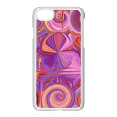 Candy Abstract Pink, Purple, Orange Apple Iphone 7 Seamless Case (white)