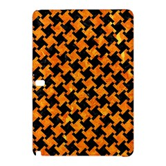 Houndstooth2 Black Marble & Orange Marble Samsung Galaxy Tab Pro 12 2 Hardshell Case by trendistuff