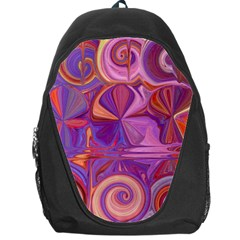 Candy Abstract Pink, Purple, Orange Backpack Bag