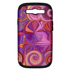 Candy Abstract Pink, Purple, Orange Samsung Galaxy S Iii Hardshell Case (pc+silicone) by digitaldivadesigns