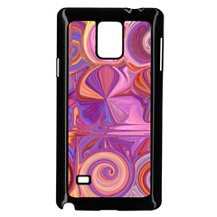 Candy Abstract Pink, Purple, Orange Samsung Galaxy Note 4 Case (black) by digitaldivadesigns