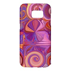 Candy Abstract Pink, Purple, Orange Samsung Galaxy S7 Edge Hardshell Case