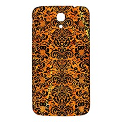 Damask2 Black Marble & Orange Marble (r) Samsung Galaxy Mega I9200 Hardshell Back Case by trendistuff