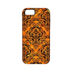 Damask1 Black Marble & Orange Marble (r) Apple Iphone 5 Classic Hardshell Case (pc+silicone) by trendistuff