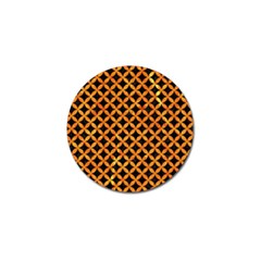 Circles3 Black Marble & Orange Marble Golf Ball Marker (4 Pack) by trendistuff