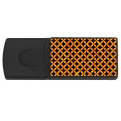 Circles3 Black Marble & Orange Marble Usb Flash Drive Rectangular (4 Gb) by trendistuff