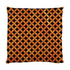 Circles3 Black Marble & Orange Marble Standard Cushion Case (two Sides) by trendistuff