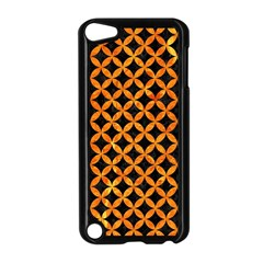 Circles3 Black Marble & Orange Marble Apple Ipod Touch 5 Case (black) by trendistuff