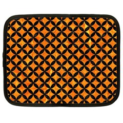 Circles3 Black Marble & Orange Marble (r) Netbook Case (xl) by trendistuff