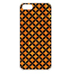 Circles3 Black Marble & Orange Marble (r) Apple Iphone 5 Seamless Case (white) by trendistuff