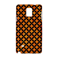 Circles3 Black Marble & Orange Marble (r) Samsung Galaxy Note 4 Hardshell Case by trendistuff