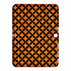 Circles3 Black Marble & Orange Marble (r) Samsung Galaxy Tab 4 (10 1 ) Hardshell Case  by trendistuff