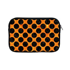 Circles2 Black Marble & Orange Marble (r) Apple Ipad Mini Zipper Case by trendistuff