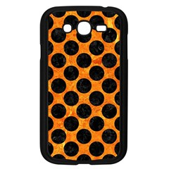Circles2 Black Marble & Orange Marble (r) Samsung Galaxy Grand Duos I9082 Case (black) by trendistuff
