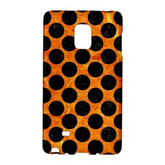 Circles2 Black Marble & Orange Marble (r) Samsung Galaxy Note Edge Hardshell Case by trendistuff