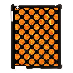 Circles2 Black Marble & Orange Marble Apple Ipad 3/4 Case (black) by trendistuff