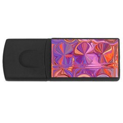 Candy Abstract Pink, Purple, Orange Usb Flash Drive Rectangular (4 Gb)  by digitaldivadesigns