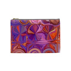Candy Abstract Pink, Purple, Orange Cosmetic Bag (medium)  by digitaldivadesigns