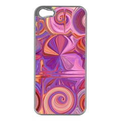 Candy Abstract Pink, Purple, Orange Apple Iphone 5 Case (silver) by digitaldivadesigns