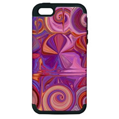 Candy Abstract Pink, Purple, Orange Apple Iphone 5 Hardshell Case (pc+silicone) by digitaldivadesigns
