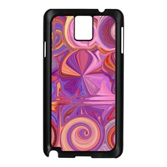 Candy Abstract Pink, Purple, Orange Samsung Galaxy Note 3 N9005 Case (black) by digitaldivadesigns