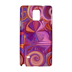 Candy Abstract Pink, Purple, Orange Samsung Galaxy Note 4 Hardshell Case by digitaldivadesigns