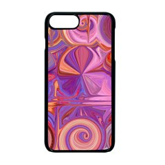 Candy Abstract Pink, Purple, Orange Apple Iphone 7 Plus Seamless Case (black)