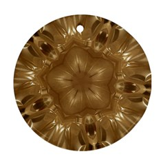 Elegant Gold Brown Kaleidoscope Star Ornament (round)  by yoursparklingshop