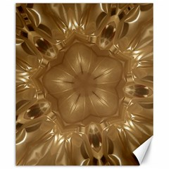 Elegant Gold Brown Kaleidoscope Star Canvas 20  X 24   by yoursparklingshop