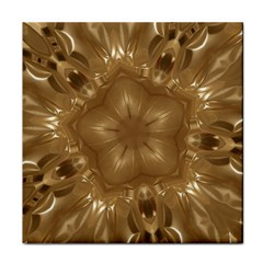 Elegant Gold Brown Kaleidoscope Star Face Towel by yoursparklingshop