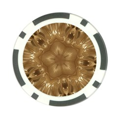Elegant Gold Brown Kaleidoscope Star Poker Chip Card Guards (10 Pack)  by yoursparklingshop