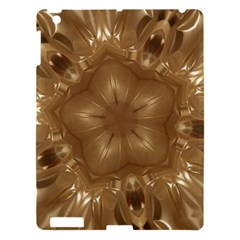 Elegant Gold Brown Kaleidoscope Star Apple Ipad 3/4 Hardshell Case by yoursparklingshop